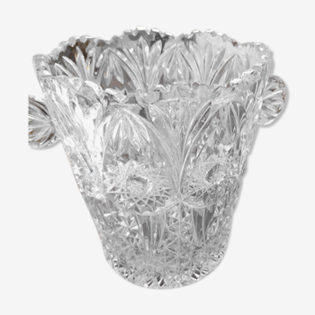 Seau à champagne cristal de bohème