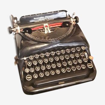 Machine à écrire Remington model 5T noire Clavier Français AZERTY