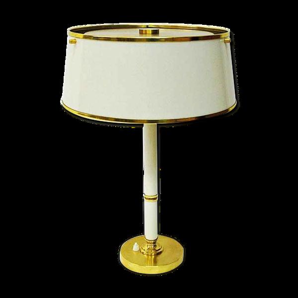 Lampe de table en laiton et métal par Borèns Borås, Suède des années 1960