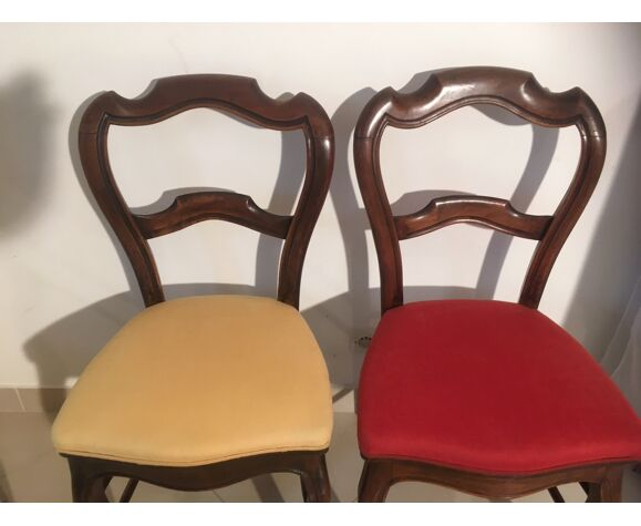 Série de 4 chaises en noyer d'époque XIXème