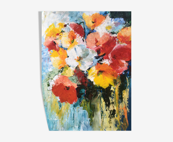 Bouquet pour toi - acrylique sur papier