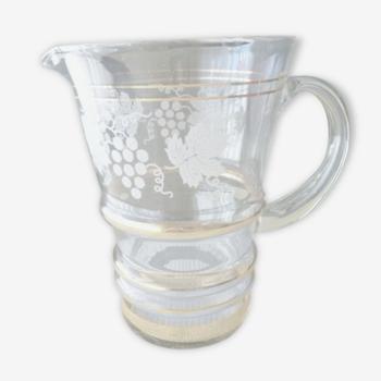 Carafe , pichet à eau ou orangeade Vintage  Années 50