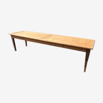 Table de ferme ancienne aéro gommée 296cm