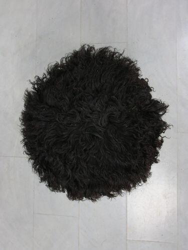 Tabouret de mouton noir du milieu du siècle