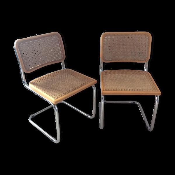 Selency Paire de chaises Marcel Breuer Cesca B32
