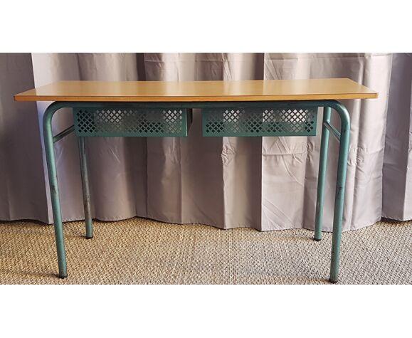 Bureau vintage à 2 casiers metal