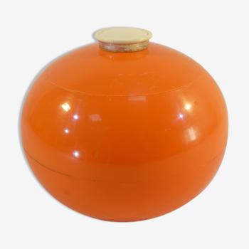 Seau a glace vintage de forme ronde et orange marque gallia
