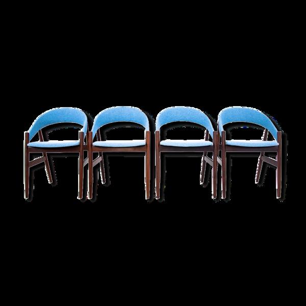 Selency Chaises à manger danoises en bleu années 1960