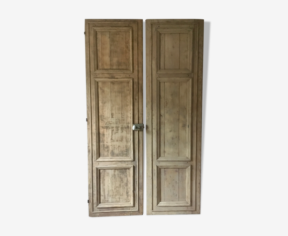 Lot de 2 portes anciennes en bois