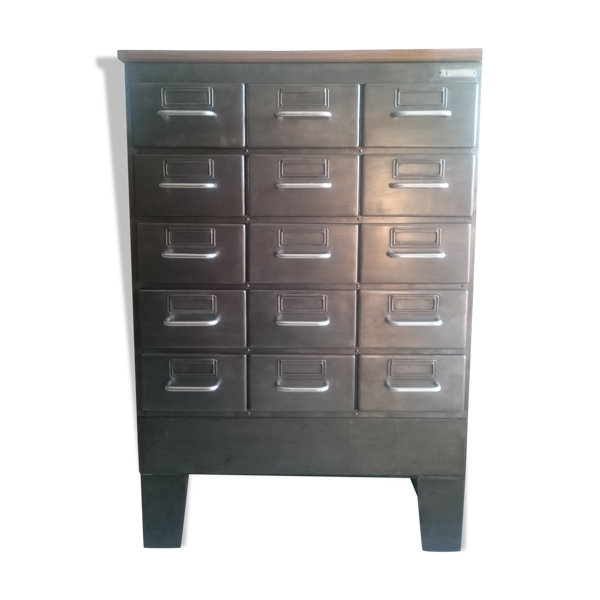 Meuble industriel Flambo 15 tiroirs
