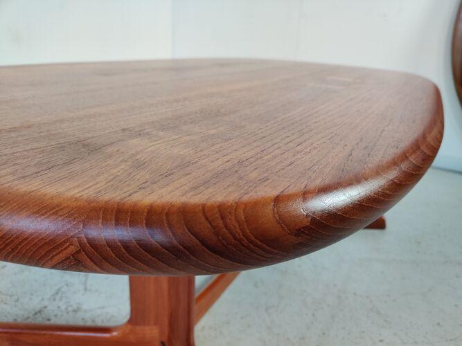 Solid teak coffee table, Denmark 1960s