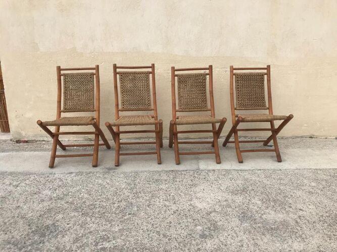 Suite de 4 chaises pliante vintage