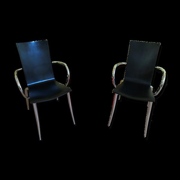 Paire de fauteuils starck olly tango