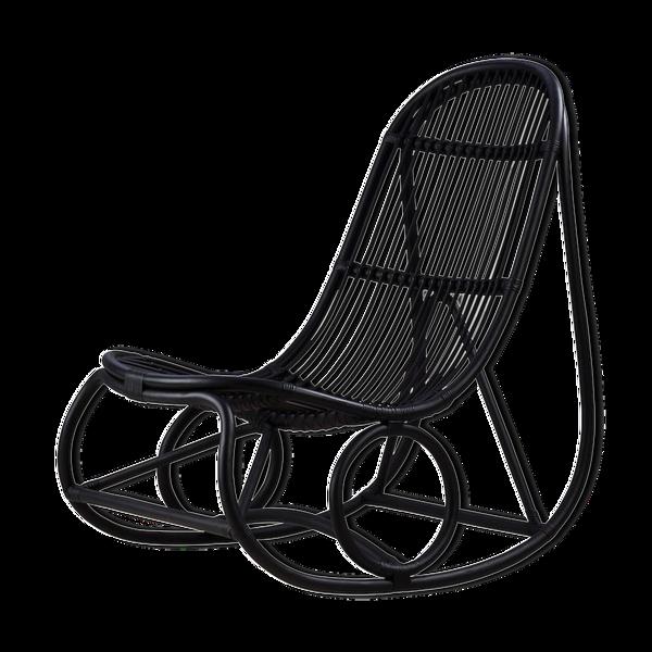 Selency Rocking-chair en rotin design années 50 par Nanna Ditzel