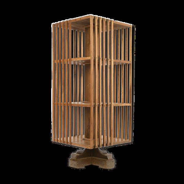 Selency Bibliothèque pivotante en bois