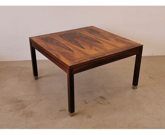 Table basse scandinave carrée en palissandre