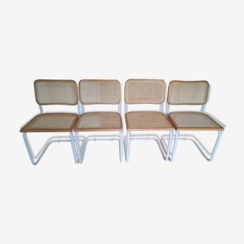 Set de quatre chaises Cesca B32 par Marcel Breuer