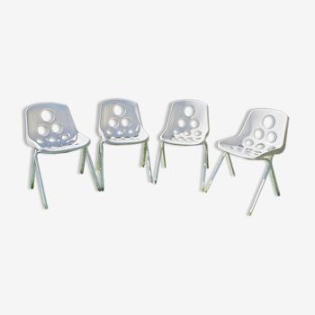 4 chaises vintage 50/60