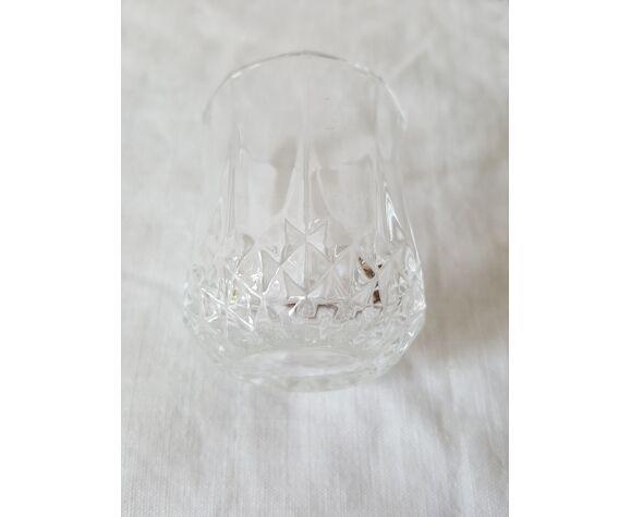 5 verres à liqueur cristal d'arques modèle longchamp