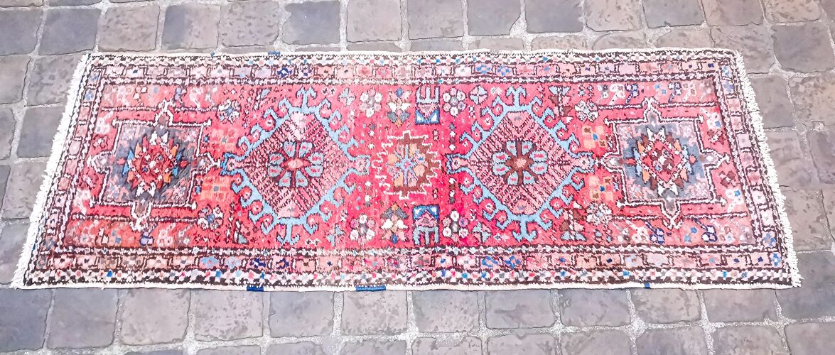 Tapis d'orient persan 164 x 61 cm