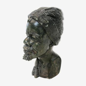 Buste africain - Israël Chikumbirike, milieu 20eme