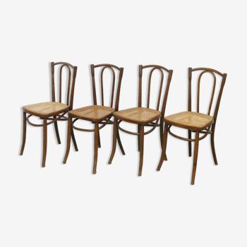 Série de 4 chaises bistrot