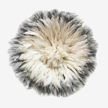 Juju hat blanc contour gris 50 cm
