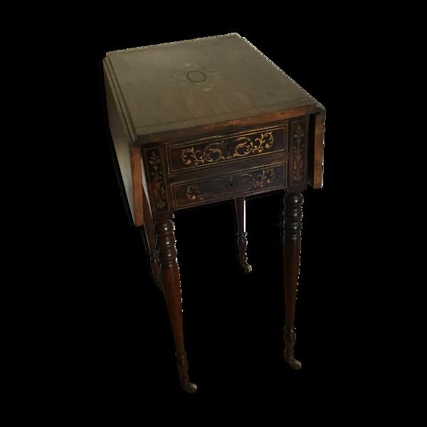 Table d'appoint à volets styles Napoléon III