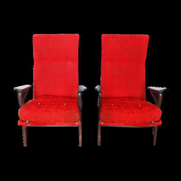 Paire de fauteuils Parker Knoll 1950
