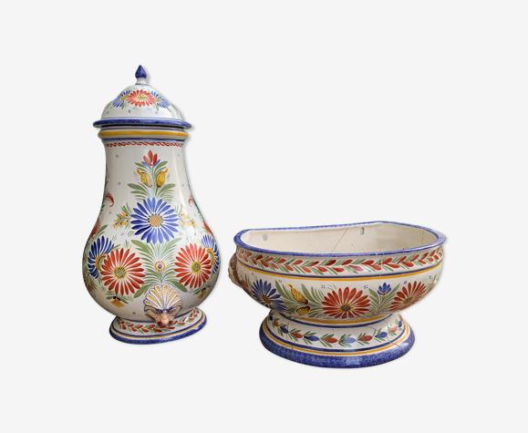 Fontaine en porcelaine HB quimper