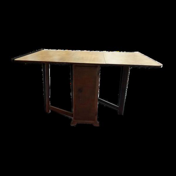 Table pliante avec rangement, années 50