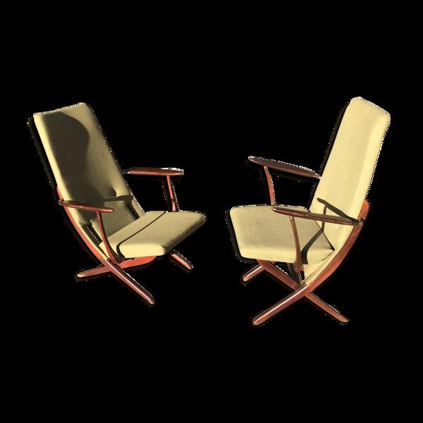 Selency Paire de fauteuils vintage