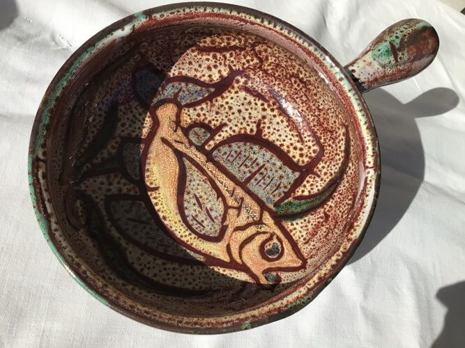 Coupe poêlon Vallauris décor poisson