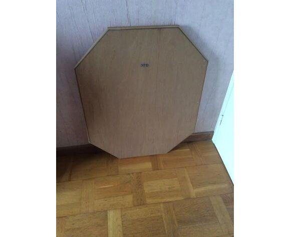 Miroir cadre bois octogonal 80x70cm