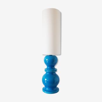 Blue ceramic lamp 1960