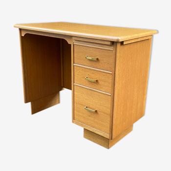 Bureau vintage en bois doré