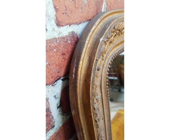 Miroir moulure doré
