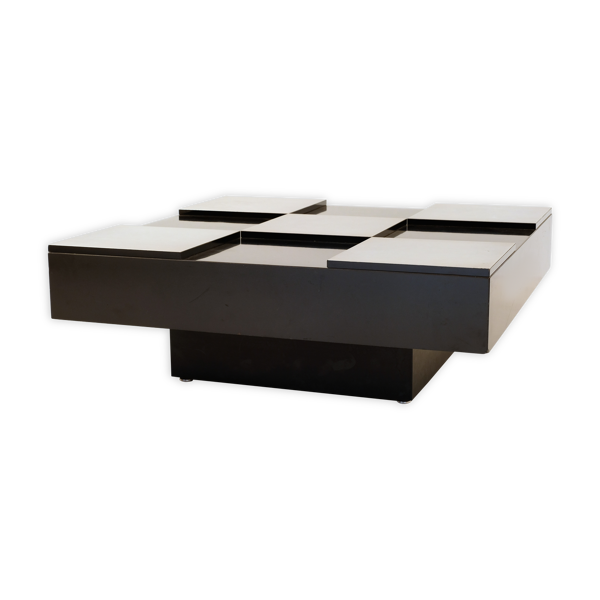 Selency Table basse damiers 1970