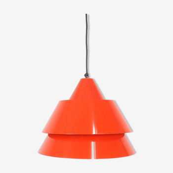 Fog & Morup Zone red hanging lamp, 1960's