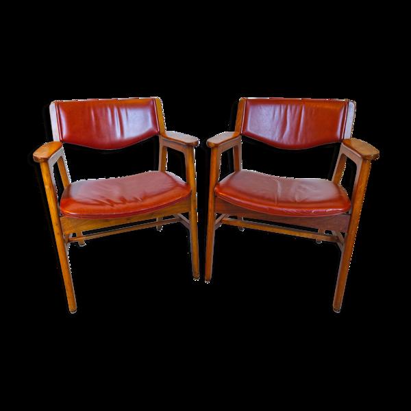Lot de 2 fauteuils W.H Gunlocke 1977