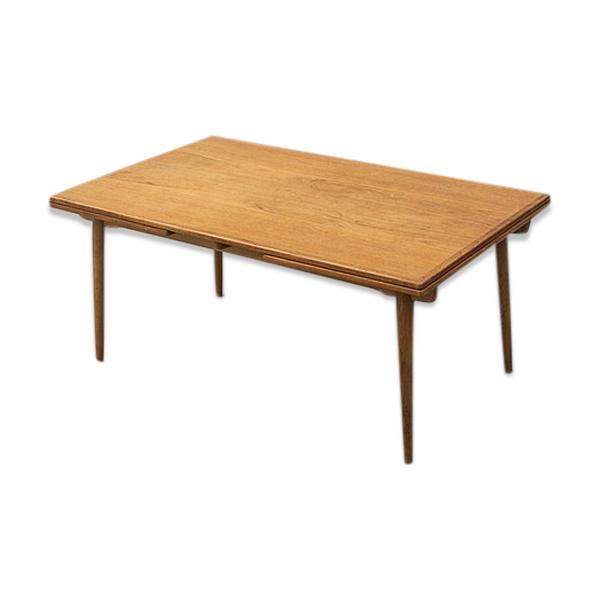 Table  AT312  en chêne et en teck extensible par Hans Wegner