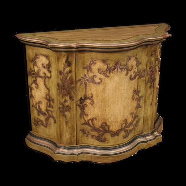 Buffet vénitien en bois laqué et peint