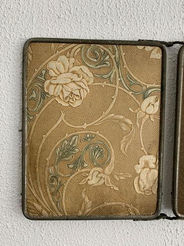 Miroir vintage 1910 triptyque barbier Le Solide Paris - 22 x 68 cm