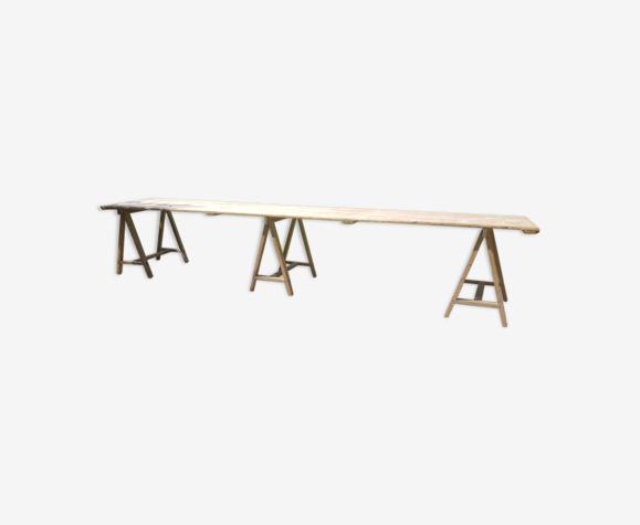 Table de ferme de guinguette dites de «battoir»  en sapin