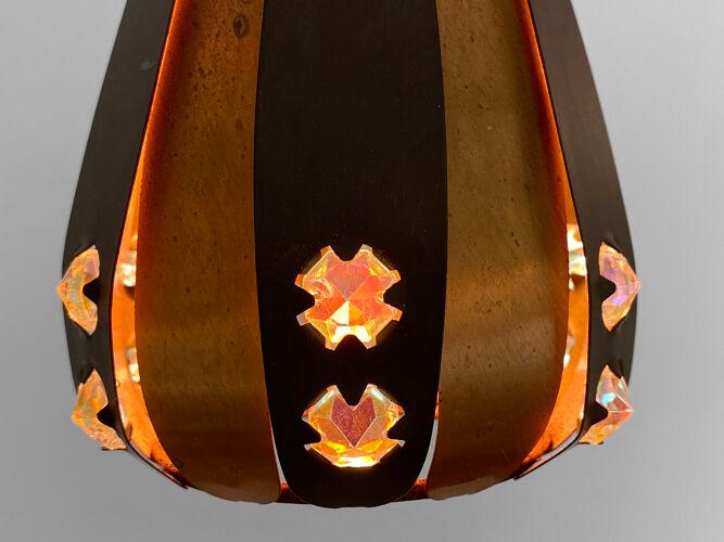 Petit pendentif «Droppen» (La goutte) de Werner Schou pour Coronell Elektro. Danemark des années 1960