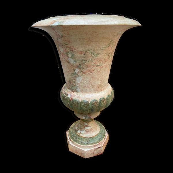 Lampe en céramique peinte à la main - 1990