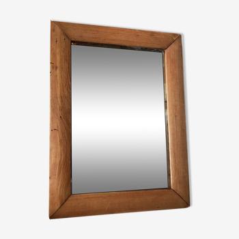 Wooden rectangular mirror 21x16cm.