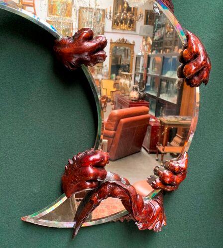 Miroir ancien en noyer 46x75cm