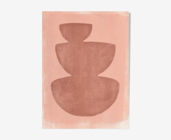 Peinture sur papier sans cadre M273b