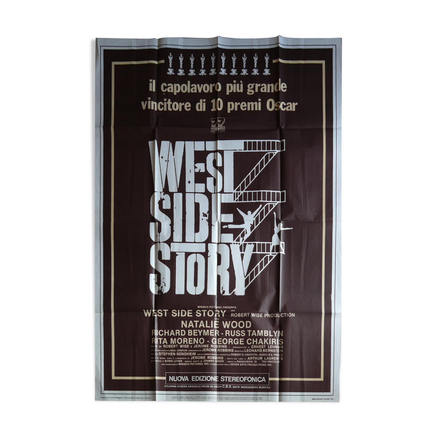 Affiche de cinéma originale - West Side Story - Robert Wise, Natalie Wood